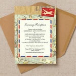 Vintage Airmail Evening Reception Invitation additional 1