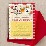 Alice in Wonderland Party Invitation additional 1