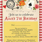 Alice in Wonderland Party Invitation additional 3