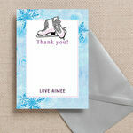 Ice Skating Personalised Thank You Card additional 1
