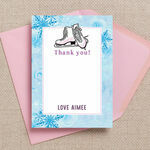 Ice Skating Personalised Thank You Card additional 3