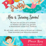 Swimming Pool Party Invitation additional 3