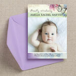 Butterfly Garden Birth Announcement Card additional 1