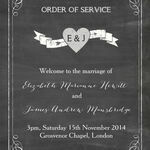 Chalkboard Order of Service Cover additional 1
