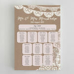Rustic Lace Bunting Wedding Seating Plan additional 1