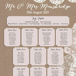 Rustic Lace Bunting Wedding Seating Plan additional 2