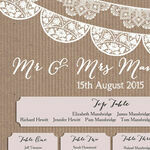 Rustic Lace Bunting Wedding Seating Plan additional 3