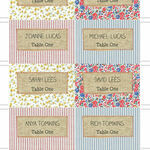 Country Textiles Escort Cards - Set of 8 additional 2