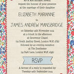 Country Textiles Wedding Invitation additional 2