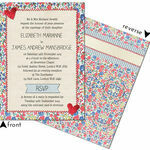 Country Textiles Wedding Invitation additional 3