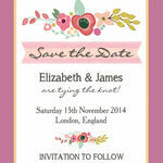 Elegant Floral Save the Date additional 2