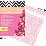 Monochrome Pop Wedding Invitation additional 3