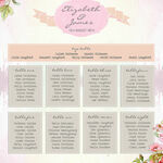 Pastel Watercolour Wedding Seating Plan additional 2
