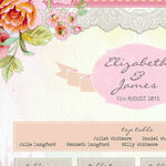 Pastel Watercolour Wedding Seating Plan additional 3