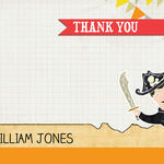 Pirate Party Thank You Cards additional 2