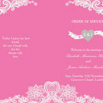 Romantic Lace Order of Service Cover additional 3
