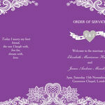 Romantic Lace Order of Service Cover additional 1