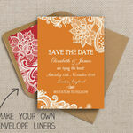 Romantic Lace Pattern Sheet/Envelope Liner additional 4