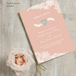 Romantic Lace Order of Service Cover additional 2