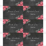Rustic Floral Escort Cards - Set of 8 additional 2
