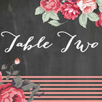 Rustic Floral Table Name additional 1