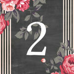 Rustic Floral Table Number additional 1
