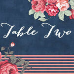 Rustic Floral Table Name additional 3