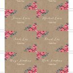 Rustic Floral Escort Cards - Set of 8 additional 1