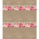 Rustic Floral Place Cards - Set of 9 additional 1