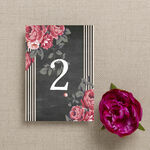 Rustic Floral Table Number additional 2