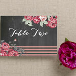 Rustic Floral Table Name additional 4