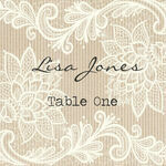 Rustic Lace Escort Cards - Set of 8 additional 1