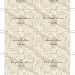 Rustic Lace Escort Cards - Set of 8 additional 2