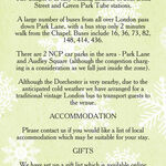 Rustic Winter Guest Information Card additional 1