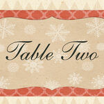 Rustic Winter Table Name additional 1