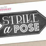 'Strike a Pose' Printable Photo Booth Sign additional 3
