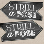 'Strike a Pose' Printable Photo Booth Sign additional 1