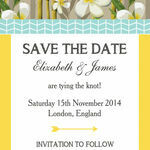 Tropical Beach Save the Date additional 2
