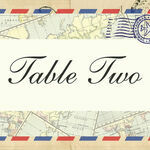 Vintage Airmail Table Name additional 1