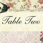 Vintage Scrapbook Table Name additional 1