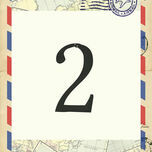Vintage Airmail Table Number additional 1