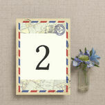 Vintage Airmail Table Number additional 2