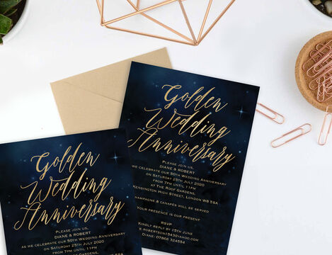 Wedding Anniversary Invitations