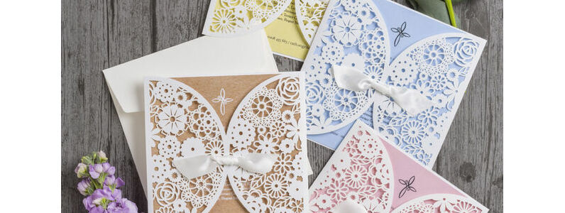 Laser-cut-lace-invitations-invites-baby-shower-Christening-Baptism-Naming-Day-Ceremony-Pastel-Blue-Pink-Yellow-Rustic-Kraft-Cross