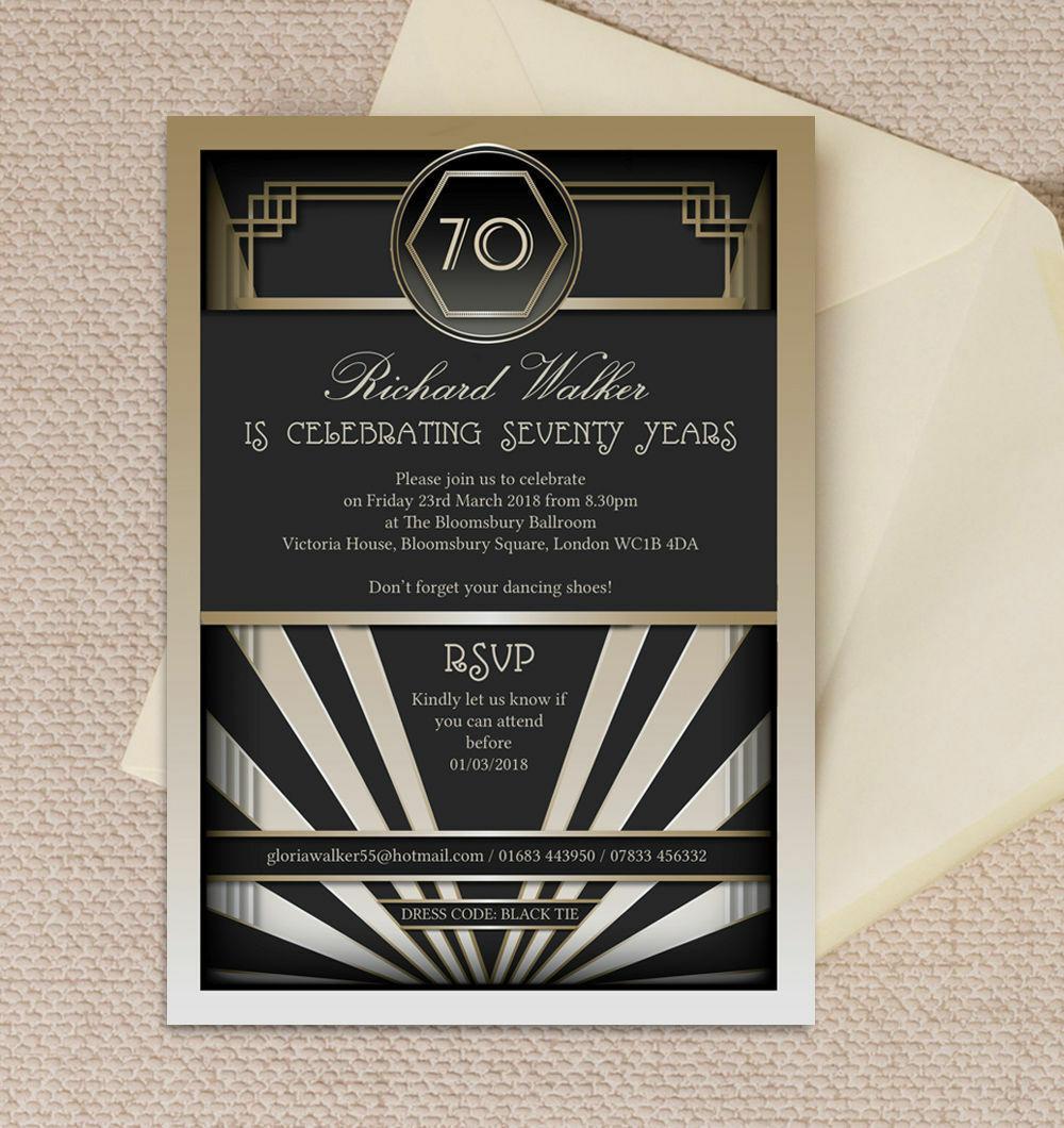 art deco invitations