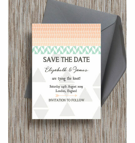 Pastel Bohemian Save the Date
