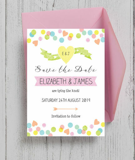 Candy Confetti Save the Date
