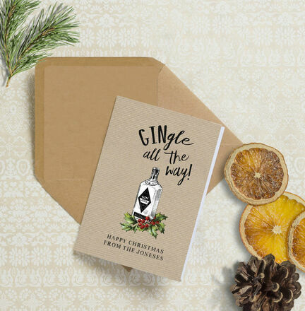 'Gingle all the way' Personalised Christmas Cards
