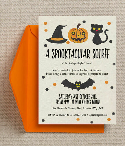 Spooktacular Personalised Halloween Party Invitation