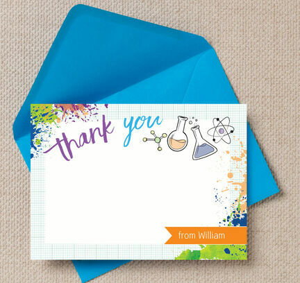 Mad Science Thank You Cards